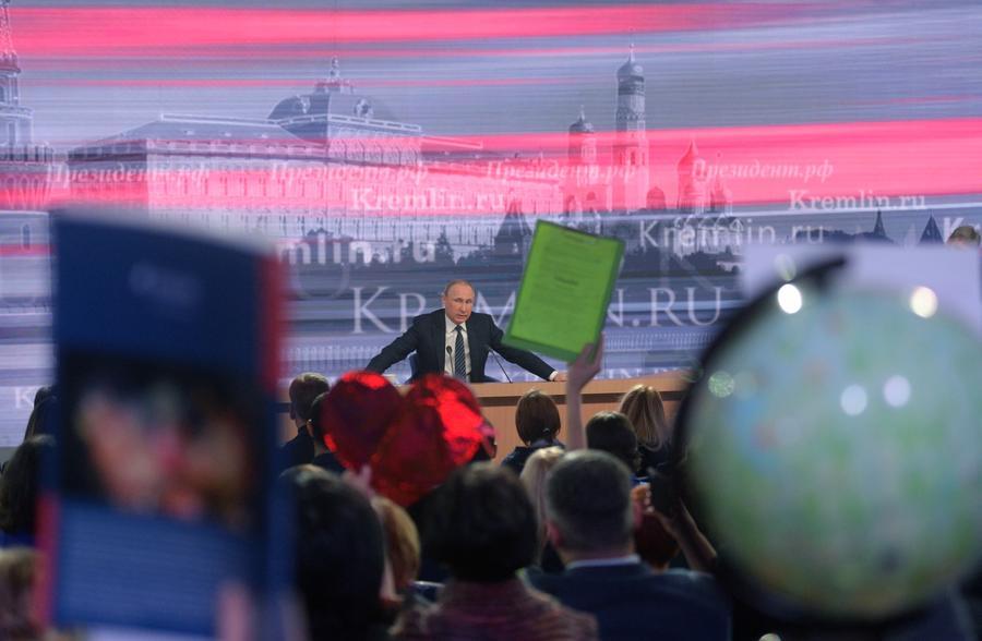 Пять самых ярких цитат Владимира Путина с ежегодной пресс-конференции