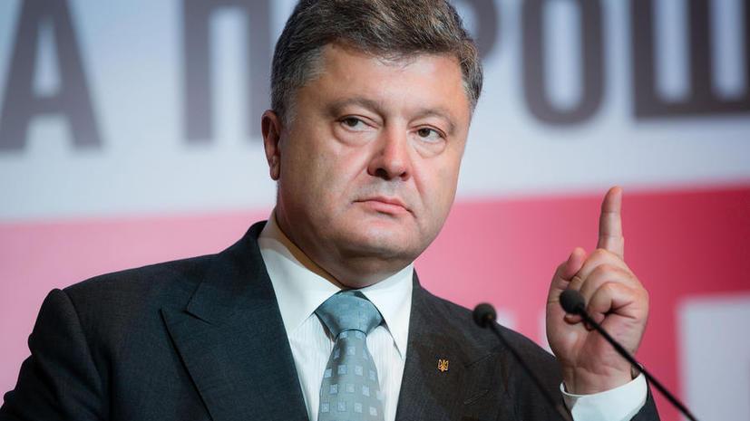 Пётр Порошенко обещал не допустить выборов в Донбассе