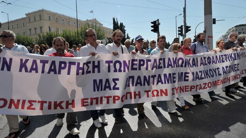 Греческие журналисты протестуют против давления властей и цензуры