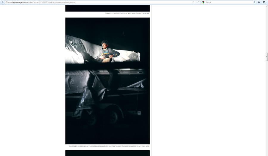 Полицейский фотограф выдал журналистам новые снимки Джохара Царнаева