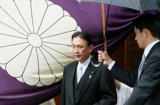 Министр госбезопасности Японии посетил скандально известный храм павших воинов