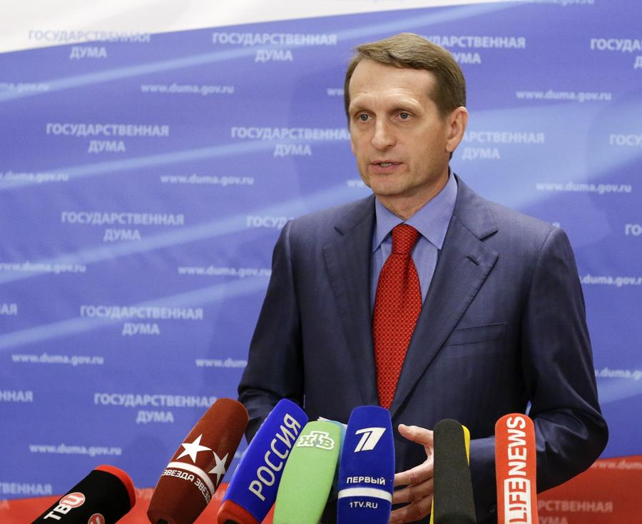 Нарышкин: В России нет агрессивных настроений по отношению к народу Украины