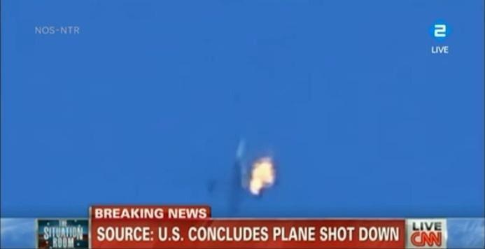 Канал CNN проиллюстрировал новость о крушении малайзийского Boeing кадрами с другим самолётом