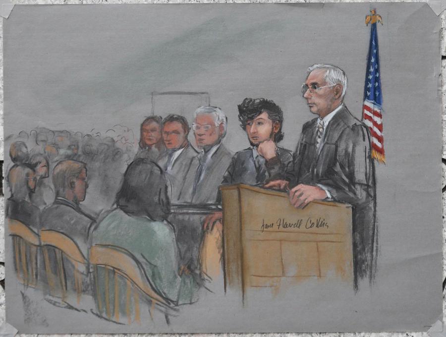 В Бостоне начался судебный процесс над Джохаром Царнаевым, защита его вины не отрицает