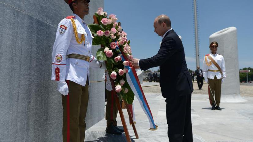 Владимир Путин встретился с братьями Кастро и Даниэлем Ортегой