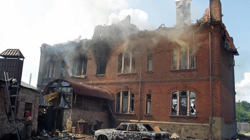Украинские силовики всю ночь обстреливали Славянск и Краматорск
