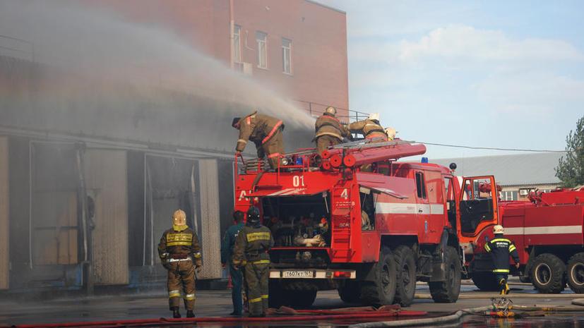 Московские пожарные прервали учения, чтобы потушить настоящий пожар