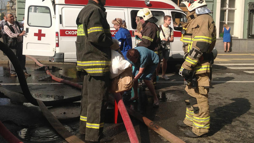 В Санкт-Петербурге возле Макдональдса прогремел взрыв, мужчине оторвало руку