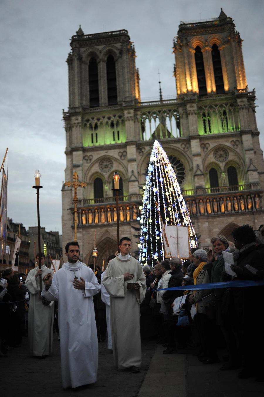 СМИ: Французы в восторге от российской ёлки в центре Парижа