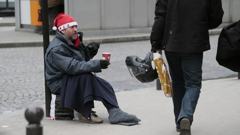 Каждый шестой американец  живет за чертой бедности