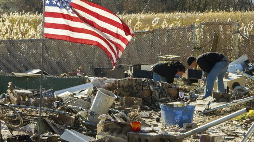 Американские власти отправят  в тюрьму жертв урагана Сэнди