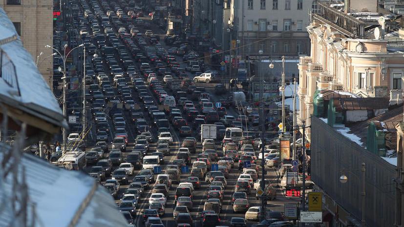 Московские водители будут получать SMS-оповещения о пробках