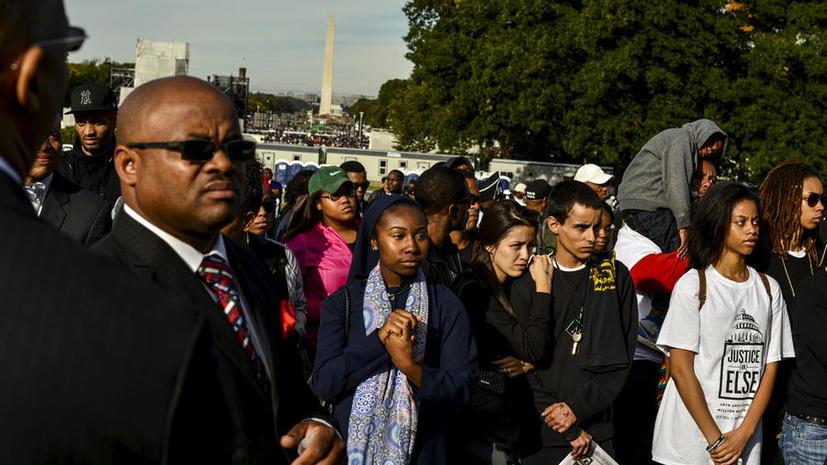 В США прошёл крупнейший за последние месяцы митинг в защиту прав афроамериканцев