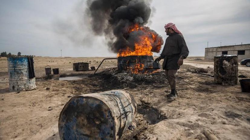 Повстанцы в Сирии торгуют некачественной нефтью, отмеряя её вёдрами