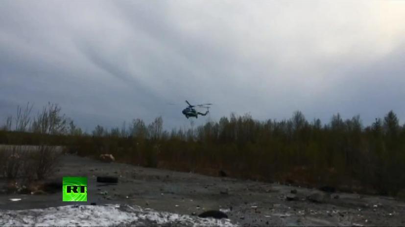 СК РФ: Опознаны тела десяти жертв крушения Ми-8 в Мурманской области