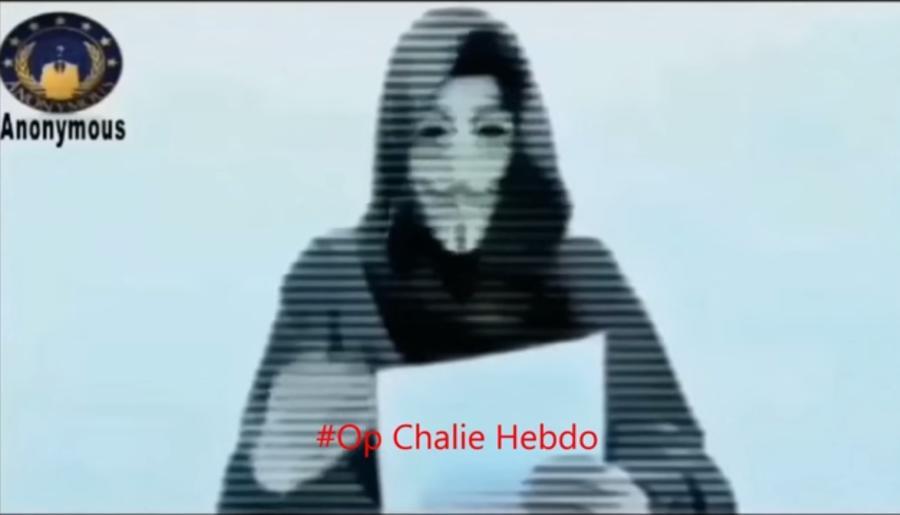 Группа хакеров Anonymous объявила войну террористическим сайтам после атаки на Charlie Hebdo
