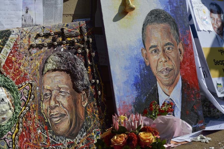 Барак Обама: Нельсон Мандела - героический человек, оказавший влияние на всё человечество