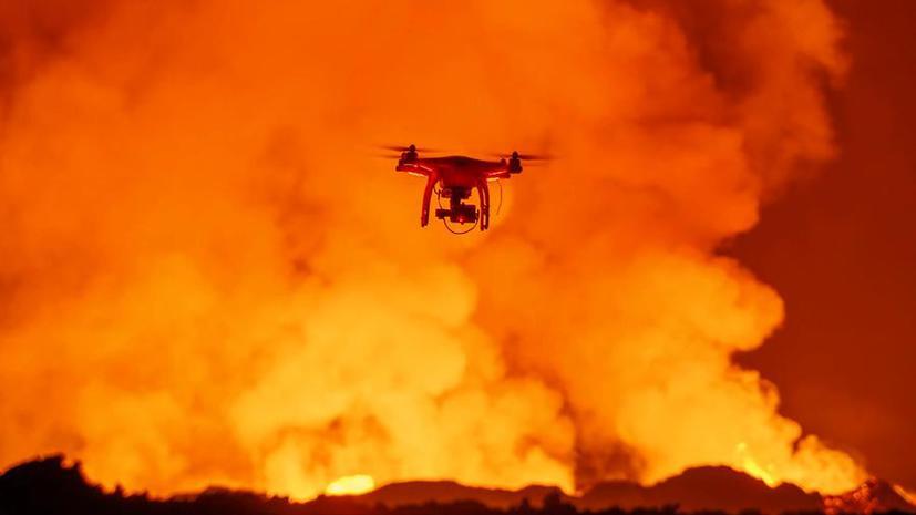 Дрон смог вплотную приблизиться к вулкану и осуществить уникальную съёмку извержения