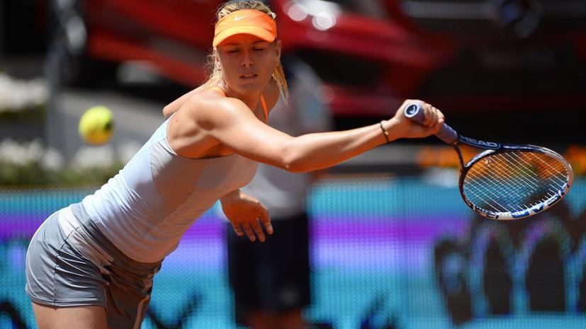 Мария Шарапова вышла в полуфинал турнира в Мадриде
