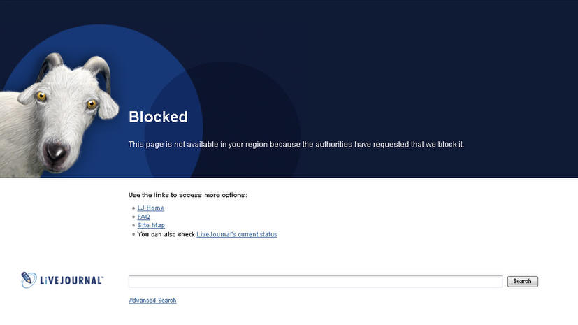 LiveJournal заблокировал страницу в блоге Адагамова