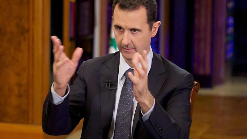 Асад: Удар США по Сирии возможен даже при условии уничтожения химоружия
