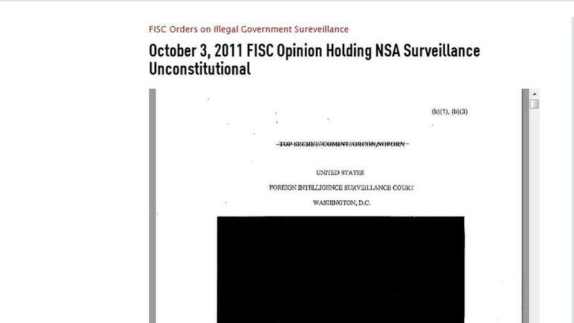 АНБ собирало интернет-данные, «не связанные с терроризмом»