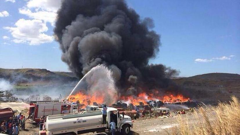В столице Никарагуа объявлена «экологическая тревога» из-за сильного пожара на свалке