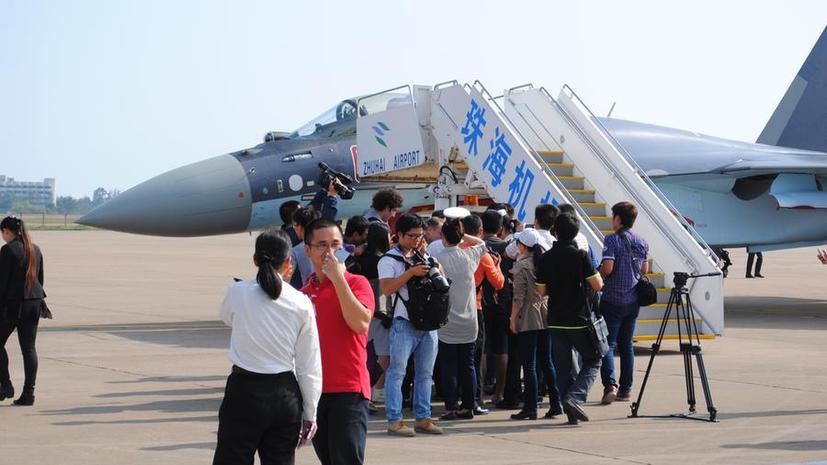 Фото дня: Cу-35 прилетел на авиасалон в Китай
