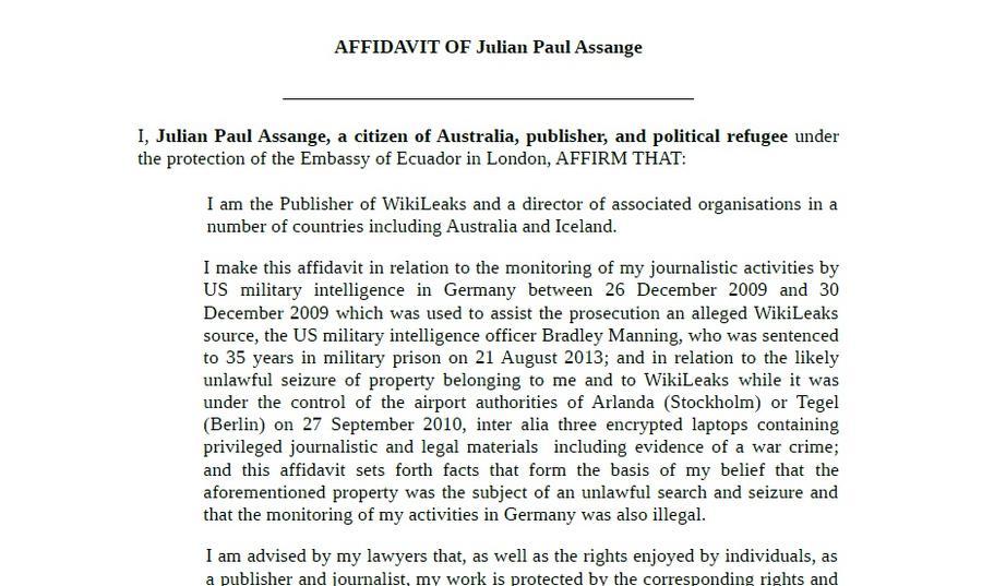 WikiLeaks запускает уголовное дело накануне визита Обамы в Швецию