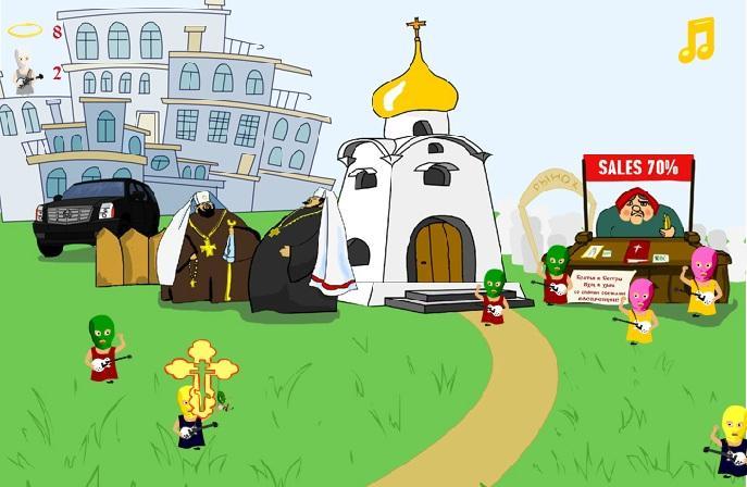 Православные активисты придумали компьютерную игру «Не пусти Pussy Riot в храм»