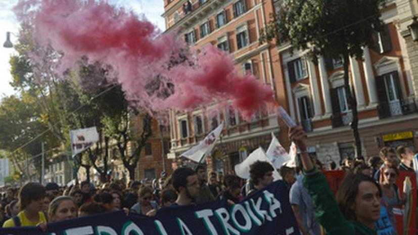 Итальянцы протестуют против политики Марио Монти