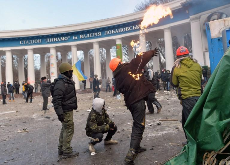 МВД Украины: Против милиции протестующие готовят арматуру и «коктейли Молотова»