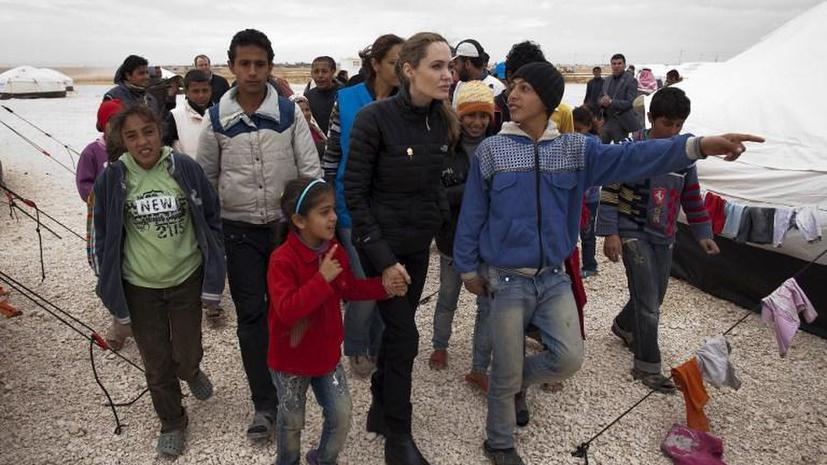 Анджелина Джоли призвала мировых лидеров прекратить насилие в Сирии