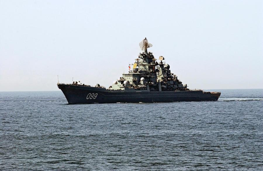 Атомный крейсер «Пётр Великий» обеспечит безопасность вывоза химоружия из Сирии
