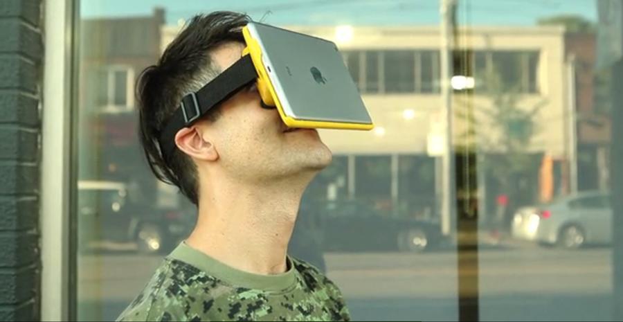 Надетый на голову iPad станет шлемом виртуальной реальности