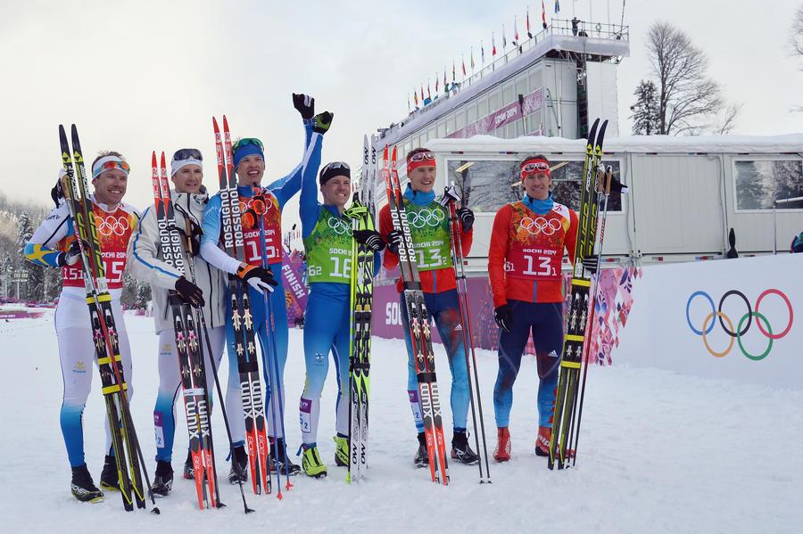 Российские лыжники взяли серебро в командном спринте