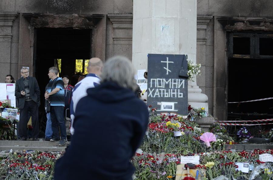 Вандалы разрисовали оскорблениями стены выставки «Одесская Хатынь» в Польше