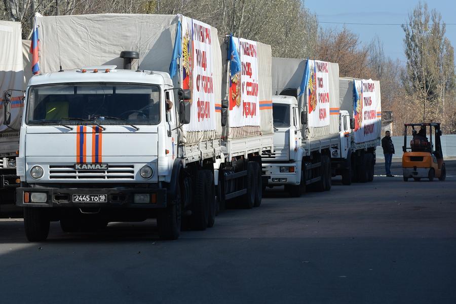 Шестой российский конвой доставил гуманитарную помощь в Донбасс