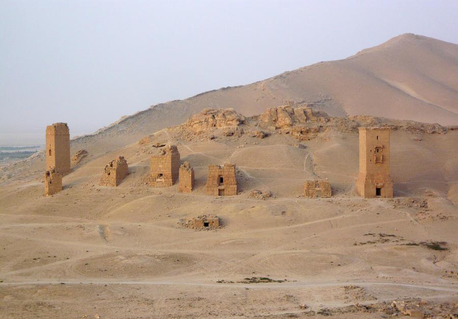 Боевики ИГ взорвали древние погребальные башни в Пальмире