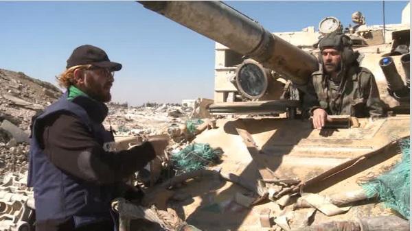 Съёмочная группа RT попала под обстрел со стороны боевиков в Сирии