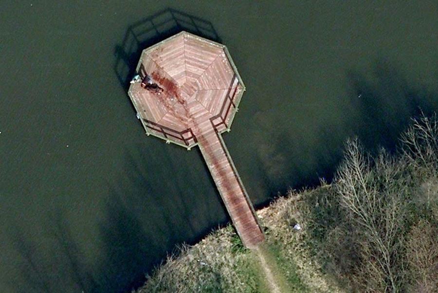 На картах Google обнаружено место возможного кровавого убийства
