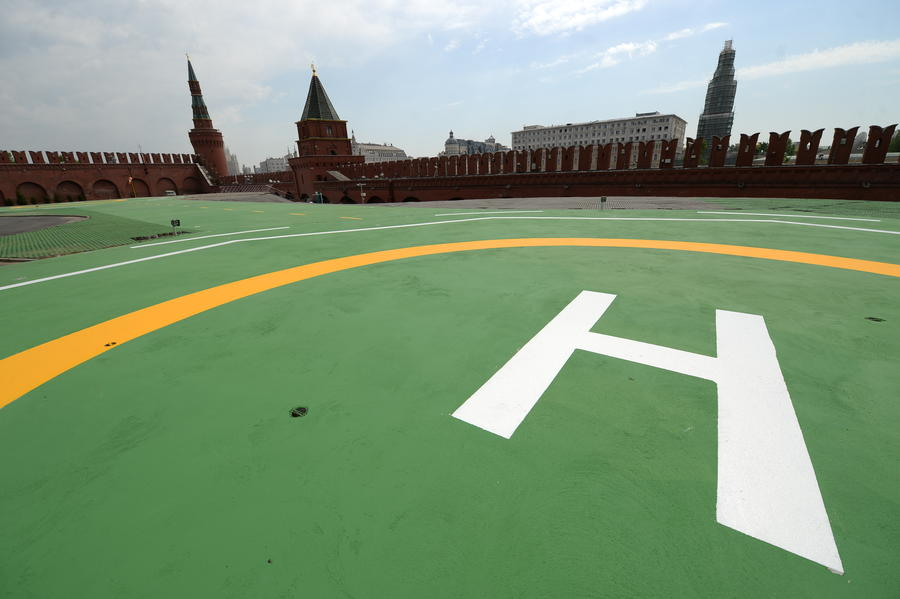 Вертолётную площадку в Кремле откроют для лидеров иностранных государств