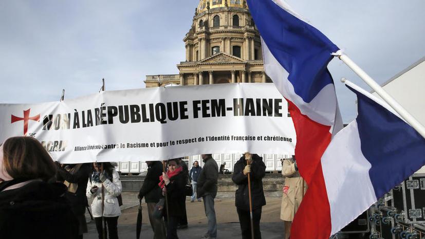 В Париже прошла акция с требованием запретить организацию FEMEN