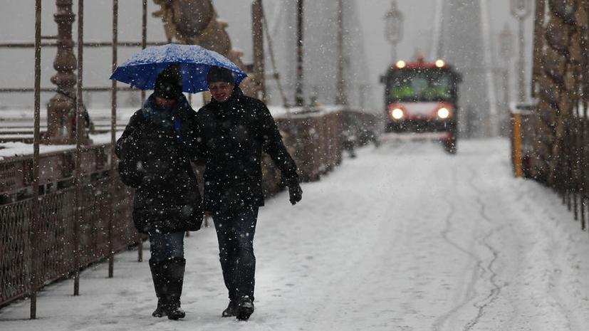 Снежный шторм - причина транспортного коллапса на востоке США