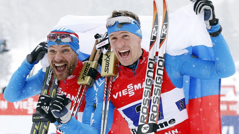 Лыжники Крюков и Петухов выиграли золотые медали чемпионата мира в командном спринте