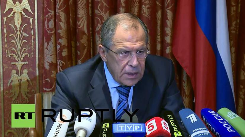 Сергей Лавров: Россия настаивает на безусловном прекращении огня на Украине