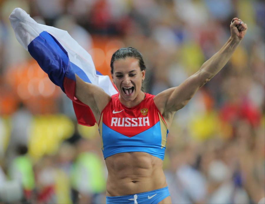 Елена Исинбаева стала трёхкратной чемпионкой мира
