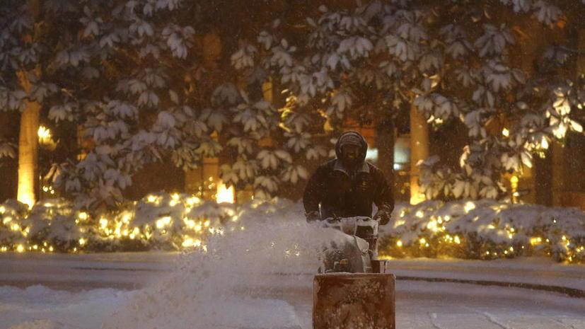 Американцы делятся фотографиями «Снегозиллы», атаковавшей Восточное побережье США