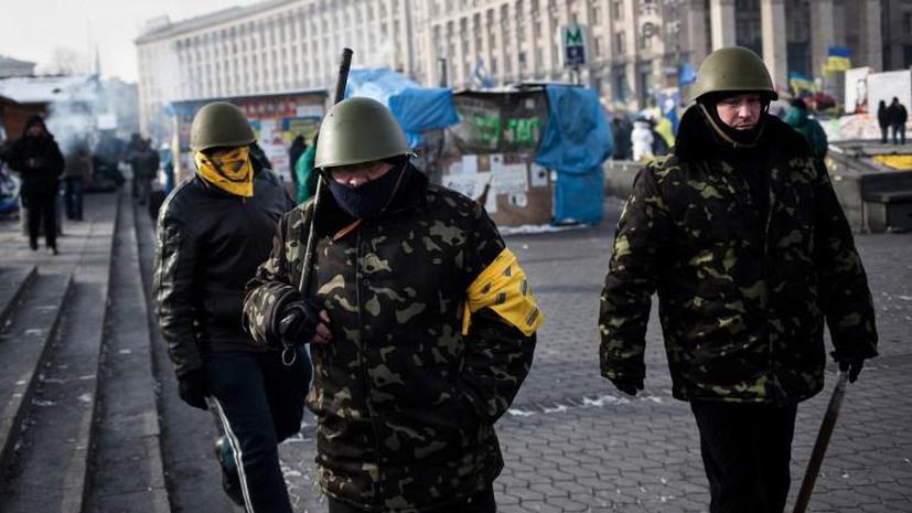 МВД Украины: Представители оппозиции спокойно наблюдали за избиением милиционера