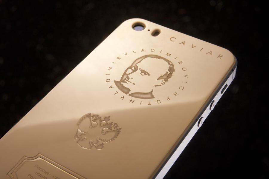 Золотой iPhone с портретом Владимира Путина обойдётся в 147 тыс. рублей